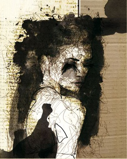 Gritty, Modern Art by Florian Nicolle
