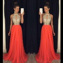 Robe soiree orange pas cher