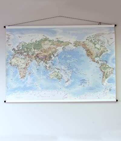 Telegram Map of the World - Large (1.75 x 1.2m)  Canvas World Map