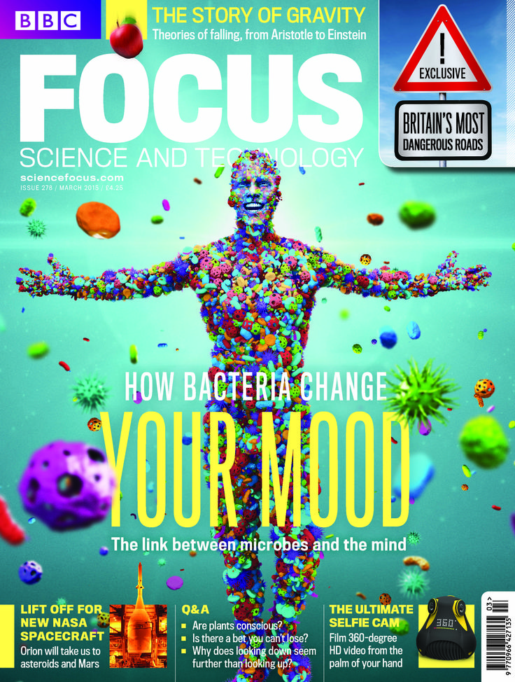 The March 2015 issue of BBC Focus Magazine on sale now! How microbes can change your mood, Britain's most dangerous roads and dating tips from animals www.sciencefocus.com