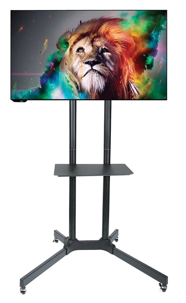 Halter Rolling TV Stand Trolley Cart and Mount for 30 - 65'' Vesa Mount LED/LCD TV & Monitors with Adjustable Shelf - Sturdy and Durable