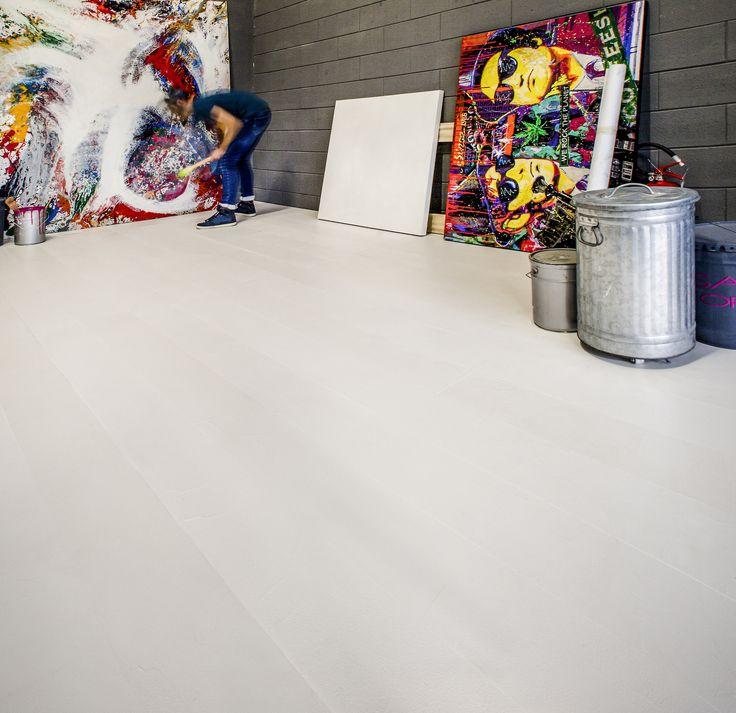 Semplicemente pura creatività con il nuovo #parquet in #resina #Rektina