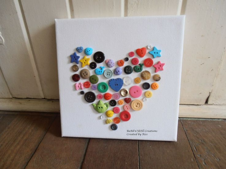 Heart Canvas - made using Buttons - Made by Riss