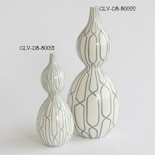 DwellStudio D8.80021 Linking Trellis Double Bulb Transitional Vase - Small GLV-D8-80021