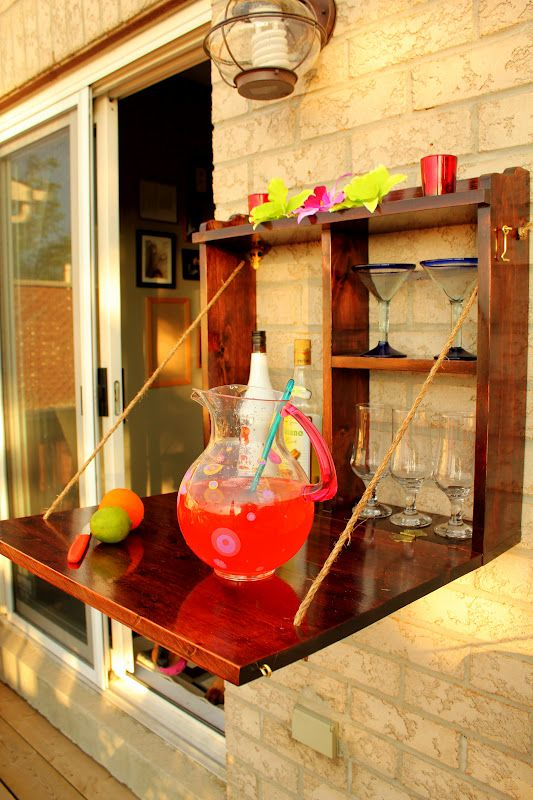 Great idea for outdoor storage and serving/bar. Turtles and Tails: It's Five O'Clock Somewhere