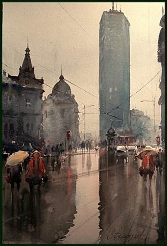 Dusan Djukaric- Spring Rain, Prolećna kiša, Beograđanka