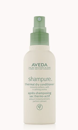 """How should you use new Shampure Thermal Dry Conditioner when styling? """"Give non-wash day braids a beautiful, messy effect by massaging your head with your palms. Then, finish/smooth the ends with Shampure Thermal Dry Conditioner.""""  - Antoinette Beenders, Aveda Global Creative Director"""
