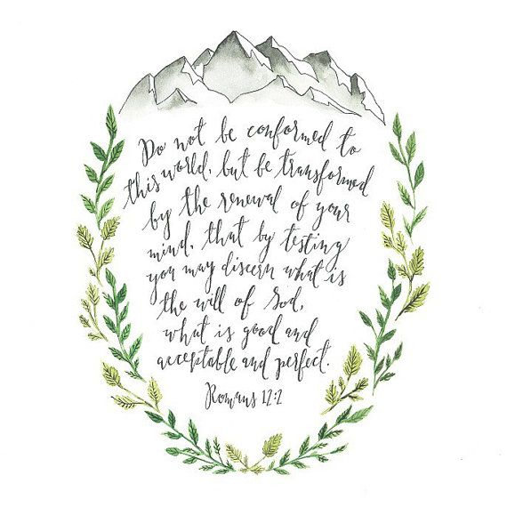 SALE Watercolor painting print, scripture painting, 8x10