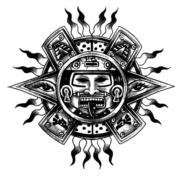 Mayan Tattoo Designs | Easy To Do At Home Nail Art Designs moreover Old School Tattoo ...