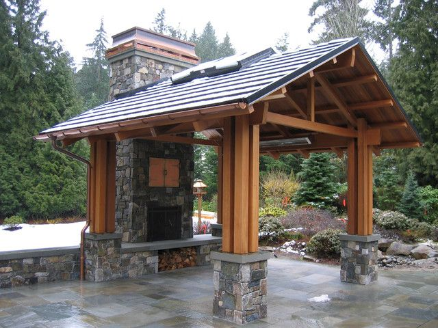 63 best Backyard Pavilions images on Pinterest | Decks ... on Outdoor Patio Pavilion id=65187