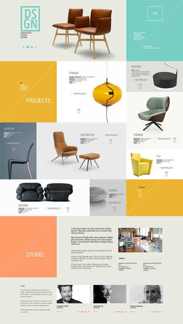 20+ Best Free One Page PSD Website Templates