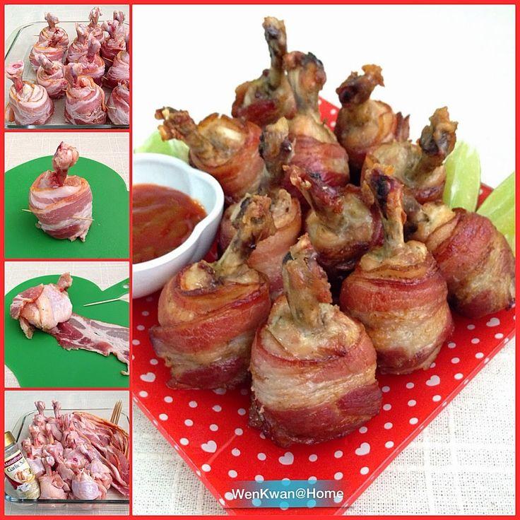 Bacon wrapped chicken lollipops | Creative Ideas