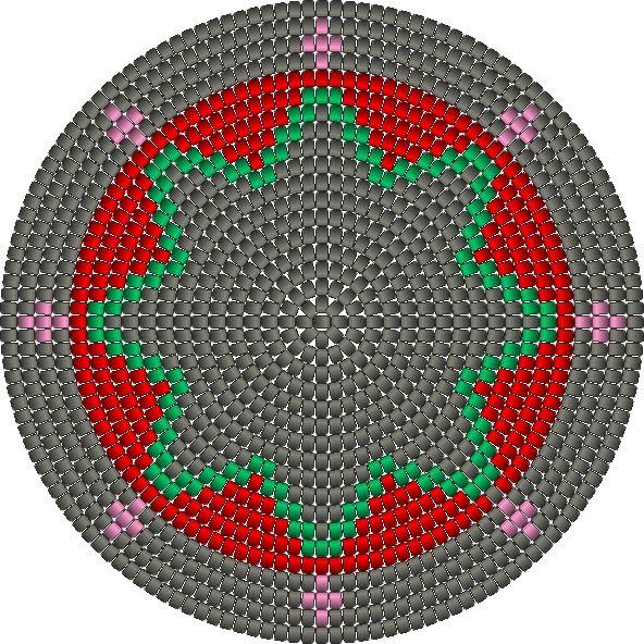 Mochila tapestry crochet bodem bottom haken grey star