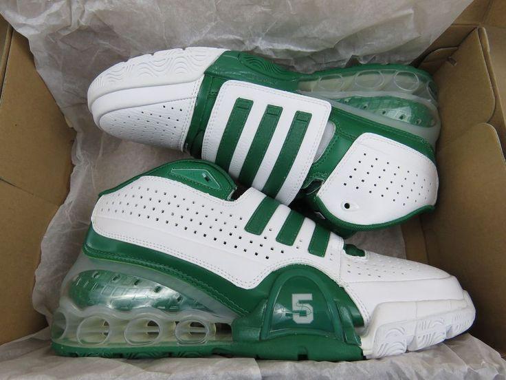 ADIDAS TS Bounce Commander Kevin Garnett Basketball Shoes Green Men's Size 10.5  #Adidas #BasketballShoes