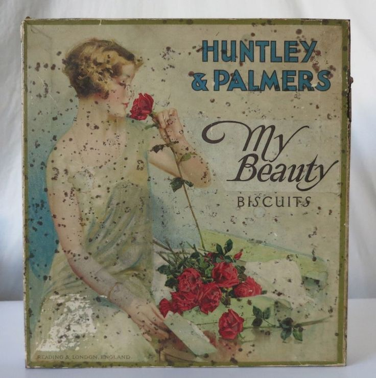 HUNTLEY & PALMERS MY BEAUTY BISCUITS VINTAGE TIN, READING & LONDON #HUNTLEYPALMERS
