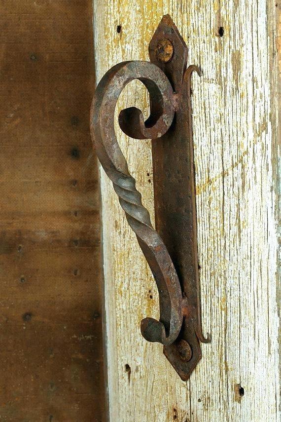 Rustic Door Pulls Hardware Iron Handle 4 Hand Hammered Black Rustic Doors Door Handles Rustic Door Hardware