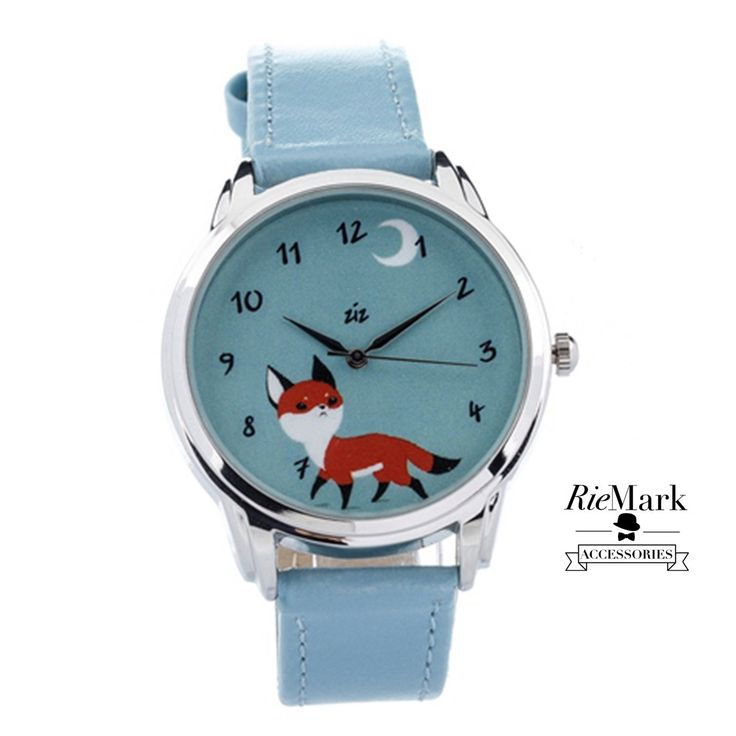 Curious Fox Watch. Unisex Wristwatch. For Men and Women. Gift. Metal Watch by RieMark on Etsy https://www.etsy.com/listing/227869575/curious-fox-watch-unisex-wristwatch-for