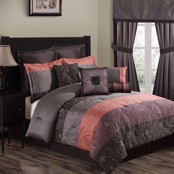 Vaughn 10 Pc Comforter Set Queen Home Decor