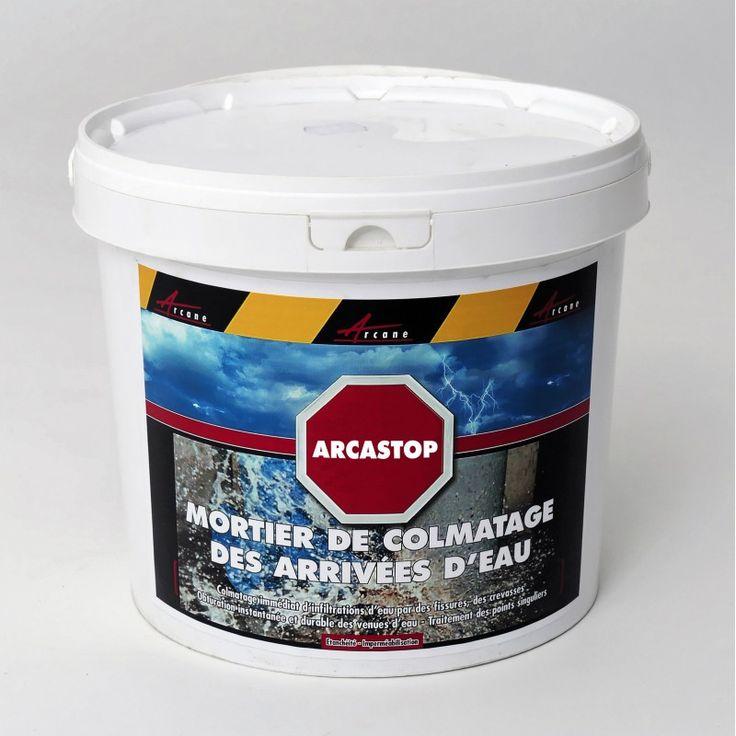 Obturation instantanée et durable des infiltrations d'eau par les trous et les fissures sur béton et maçonnerie - mortier d'étanchéité rapide - pré-étanchement de paroi ruisselante.