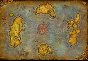 World Of Warcraft Azeroth Map Print/Poster 24x36