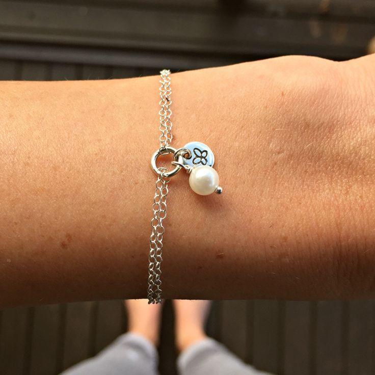 Sterling Silver Personalised Pearl