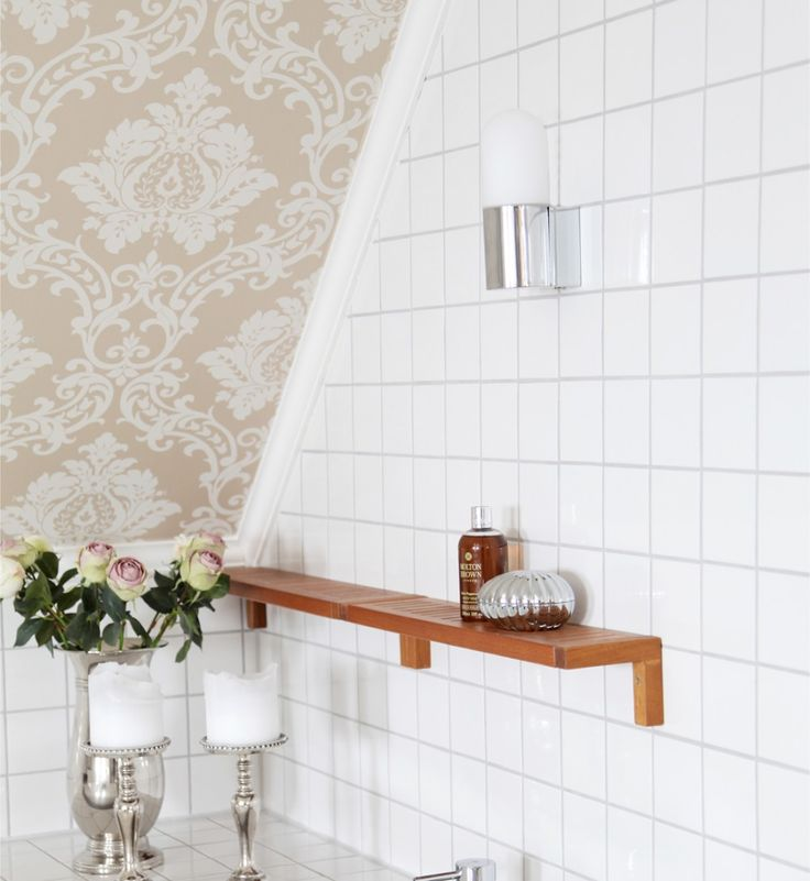 Modern Small wall lamp in white with chromed base SKINA I Sessak