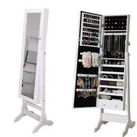 Description: Brand new and high quality. A brand new stunning Mirror Jewellery Cabinet Organiser. Ma