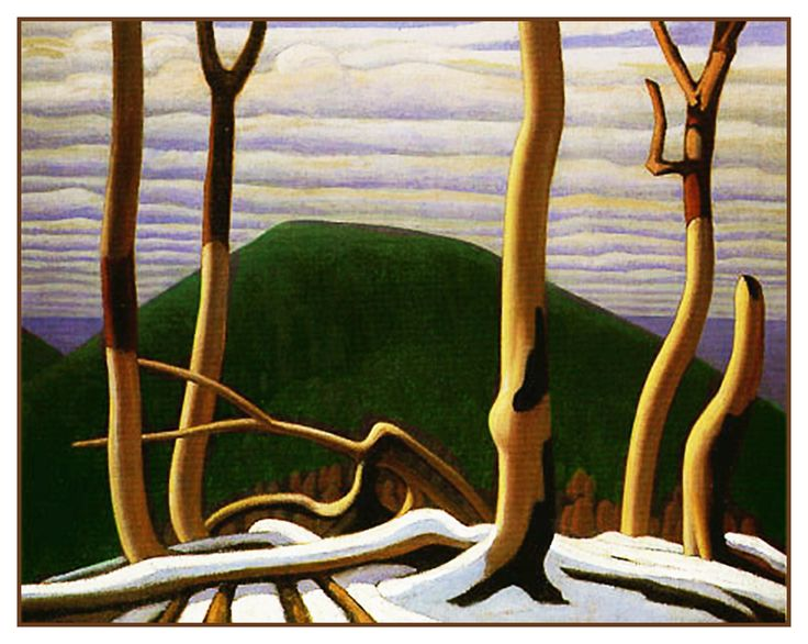 Lawren Harris's Above Lake Superior Ontario Canada Landscape Counted Cross Stitch or Counted Needlepoint Pattern