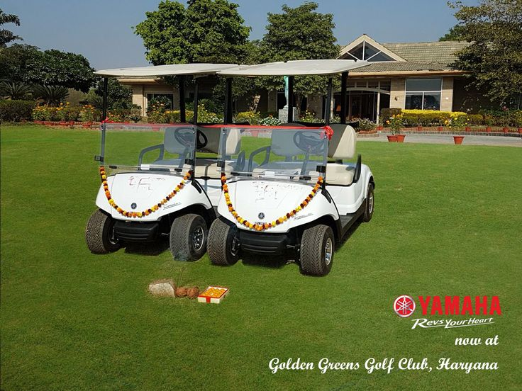 Brand new Yamaha Golf cart now at Golden Greens Golf Club, Haryana. #yamahagolfcar #electricvehicle #golfcart #golfcar #golf