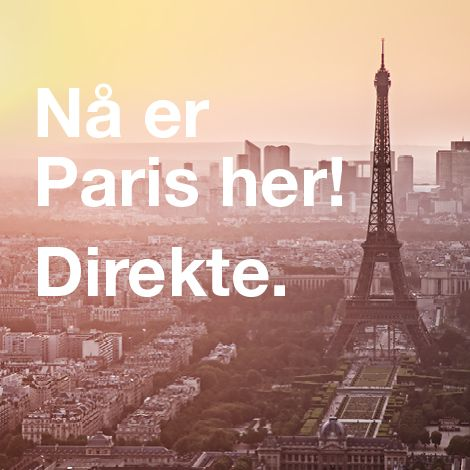Over a few grey and depressing days in February, it was the spring and romance that captivated the Stavanger region. Now that Air France is starting up daily direct departures to Paris, well, it's almost as if Paris is here. Paris, je t'aime!