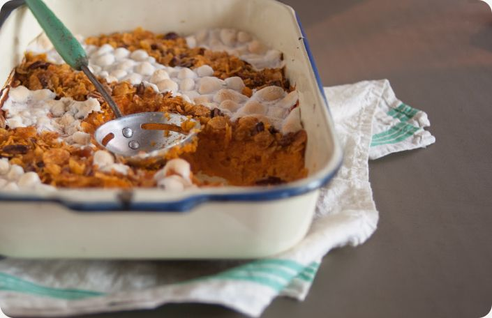 What would Thanksgiving be without Sweet Potato Casserole? From Some Kitchen Stories