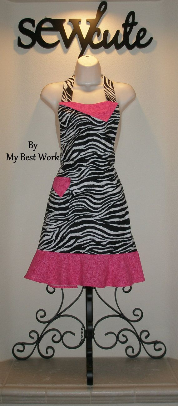 Zebra and Pink apron :)