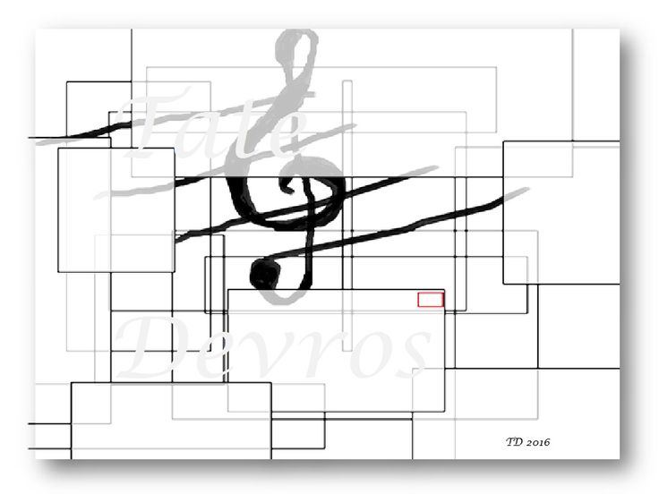 Black and white abstract image: music.Download png file.1024 x 768 pixels.Signed and dated by T. Devos