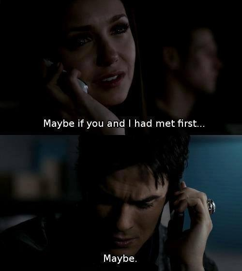 Damon and Elena. I was crying this was one of the saddest moments