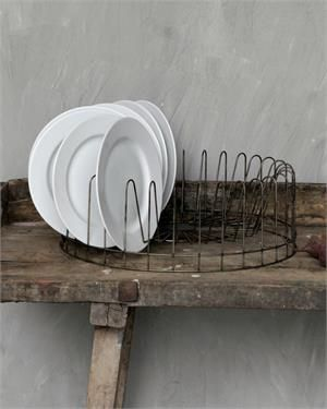 Vintage Style Round Wire Plate Rack, Wire Plate Holder from Farmhouse Wares. This is a great site!