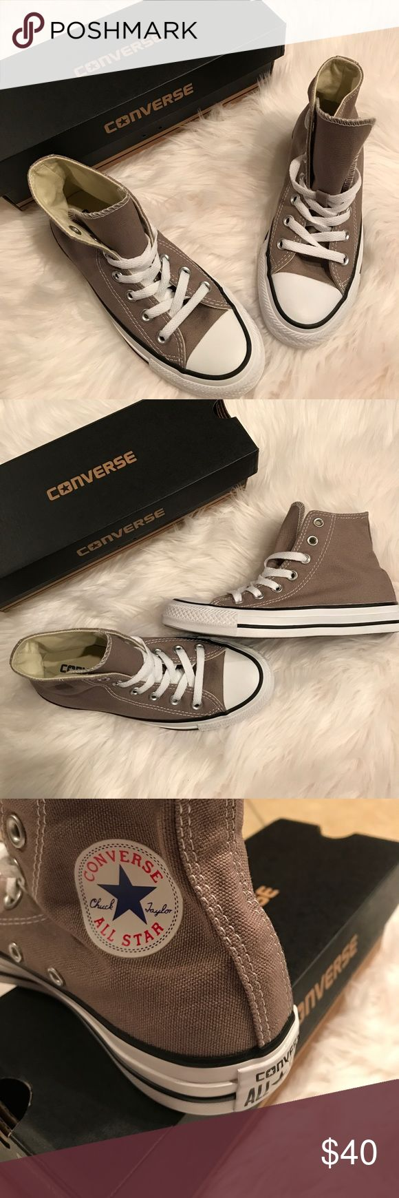 Converse All Star Converse All Star in full box- womens 5, Men's 3. The color is Malt, they are a neutral tan shade & would adorable with jeans! Converse Shoes Sneakers