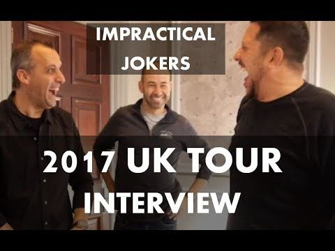 The Impractical Jokers - Where's Larry Tour in the UK - INTERVIEW - YouTube