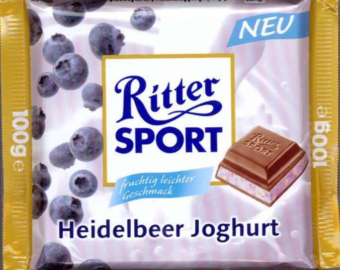 RITTER SPORT Heidelbeer Joghurt (2005)