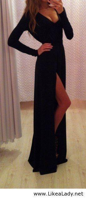 Sexy long black dress