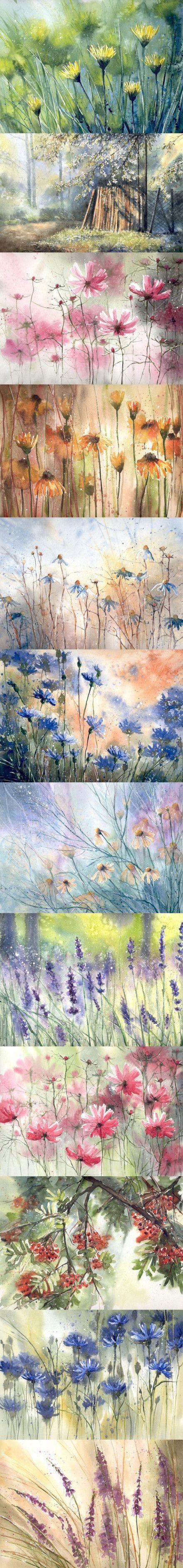 watercolour flowers #watercolor jd