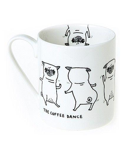 Pickle Parade Coffee Dance Mug The Brilliant Gift Shop Uk Pugs