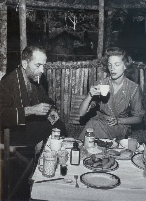 CoffeeTime for Lauren Bacall and Humphrey Bogart Old Hollywood stars wow vintage times