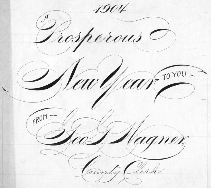 97 besten Spencerian Bilder auf Pinterest | Kalligraphie ...
