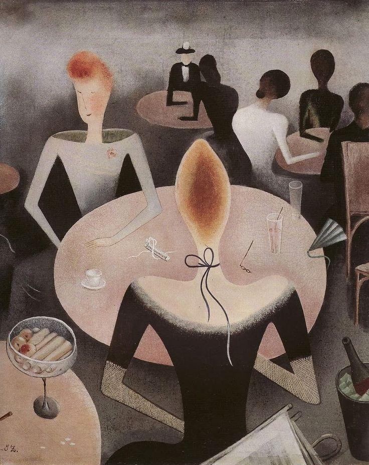 """Jan Zrzavy """"Kavarna"""", 1923 (Czech, Modernism, 20th cent.)"""