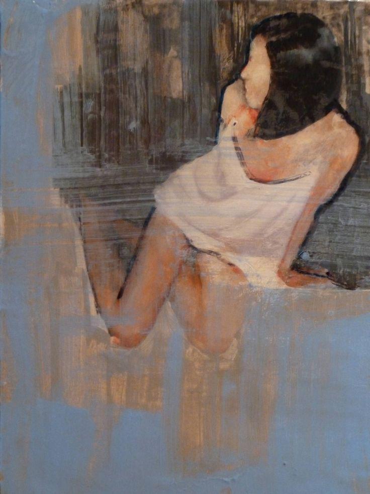 "Saatchi Art Artist: Fanny Nushka Moreaux; Acrylic 2013 Painting ""A.L.L, 2013 (glossy resine varnish on top)"""