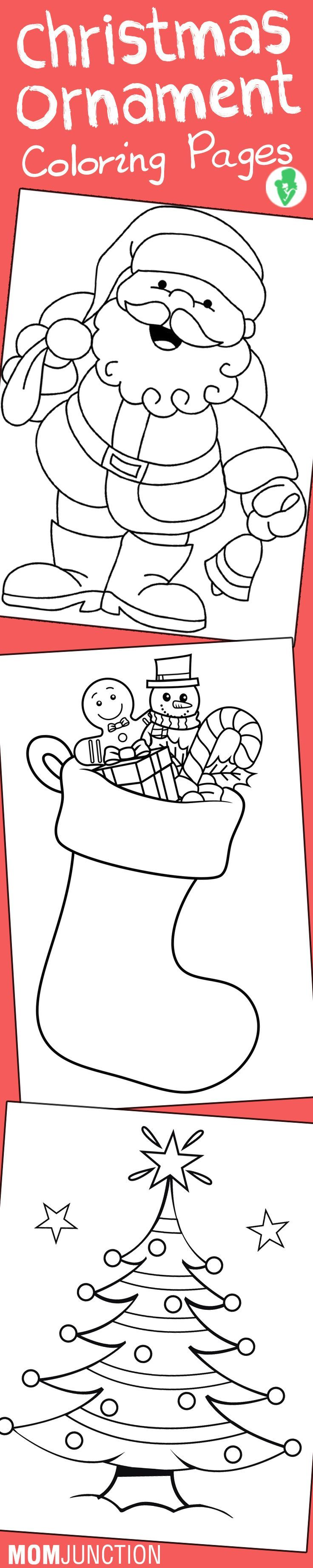 Free online anatomy coloring book - Top 10 Free Printable Christmas Ornament Coloring Pages Online