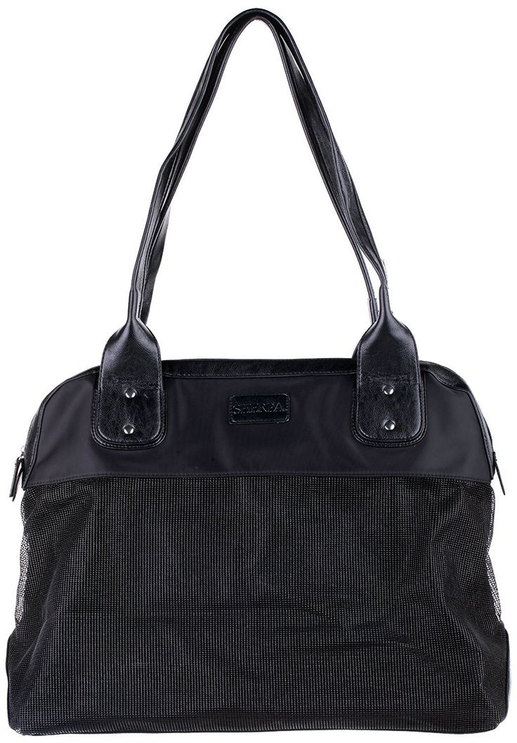 Large, Black Zippered Side Accessory Pocket Pet Carrier * Find out more about the great product at the image link.