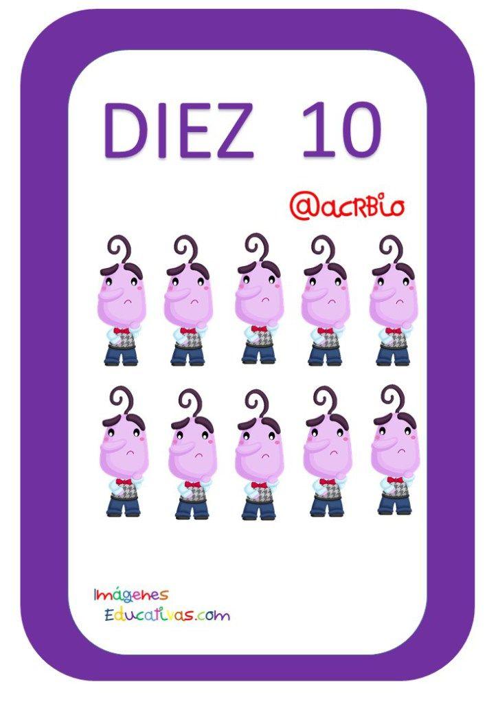 Tarjetas De Numeros Inside Out 1 20 10 Tarjetas Tarjetas