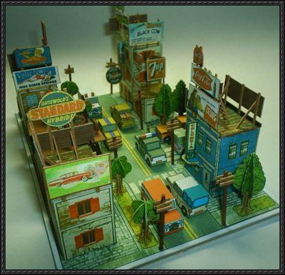 Little Urban Diorama Papercraft Free Download