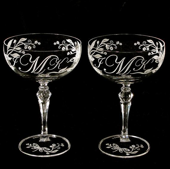 Limited Edition Dragonfly Wedding Champagne Saucers by bradgoodell, $75.00